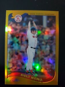 2002 Topps Chrome HIDEO NOMO Refractor Gold.  Boston Red Sox