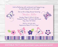 buy butterflies theme invitation ebay