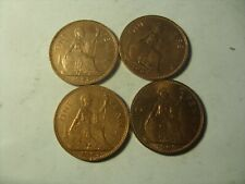 LOT OF 4 BRITISH PENNY 1962-1967 LUSTRE !!!!!!!!!!!!!!