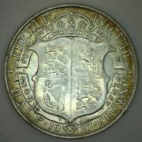 1927 Great Britain Silver Half Crown Coin XF Extra Fine UK 1/2 Crown