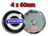 4 x 60mm Schwarz Blau PVC Allufelge Nabendeckel Felgendeckel für Volvo