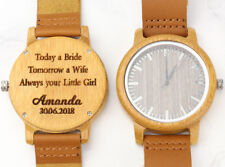 Personalised wooden Watch, Father of the Bride gift, Engraved watch