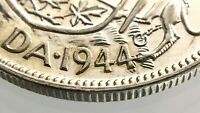 1944 WD Wide Date Canada 50 Cents Half Dollar Circulated Silver Coin R627