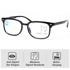 Retro Multifocal Progressive Reading Glasses Blue Light Blocking Eyeglasses