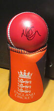 Moeen Ali (England Ashes 2015) signed Red Cricket Ball + COA & proof