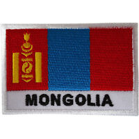 Mongolia Flag Patch Iron Sew On Mongolian Embroidery Badge Embroidered Applique