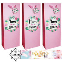 WINE BOTTLE BAG MOTHERS DAY GIFT Party Mum In A Million Gift Tag Carrier Present