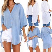 Fashion Women Long Sleeve Casual Loose Baggy Tunic Tops T Shirt Blouse Plus Nice