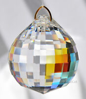 Huge 50mm Asfour Sphere Crystal Clear AB Disco Ball Prism SunCatcher Feng Shui