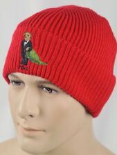 Polo Ralph Lauren Collectable Red Christmas Teddy Bear Wool Beanie Hat NWT