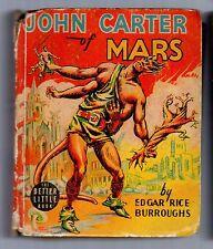 E.R. Burroughs JOHN CARTER OF MARS Whitman Publishing BETTER LITTLE BOOK 1940 VG