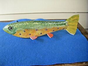 Mark Bruning Brook Trout Fish Spearing Decoy
