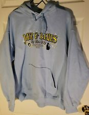 Sweatshirt Hooded Hoodie Sausilito Jazz & Blues by the Bay 2011 Large Light Blue