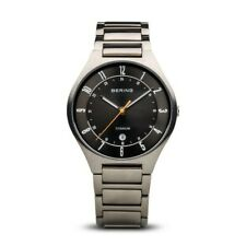 BERING Time Men's Titanium Collection Titan Black Dial Watch 39mm - 11739-772