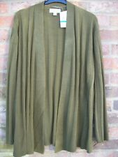 New!  Knit Hampshire Studio Quality Soft Moss Green Cardigan Size XL 20/22