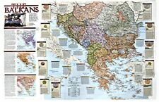 ⫸ 2000-2 The Balkans – National Geographic Map School Poster