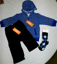 Pant Set 4pc Gymboree Hooded Sweater Cotton Fall Winter Boy 12-18 month New