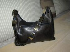 Botticellli leather handbag. Gold chain handle. Vintage. great cond REDUCED ITEM