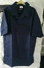 "More details for navy blue short sleeved bakers top / shirt – 124cm (48"")"