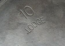 LODGE ARC 10 cast iron Skillet with arched logo no notch