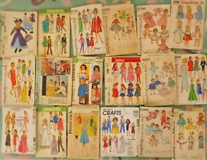 18 Vintage Sewing Patterns Barbie Doll Chatty Cathy Baby doll Mary Poppins Skipp