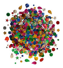 2000 Sequins Cup Loose Craft Sewing Colours Embellishments Delivery 100g