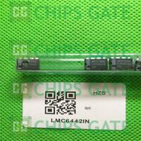 2PCS LMC6442IN IC OPAMP GP 10.5KHZ RRO 8DIP TI