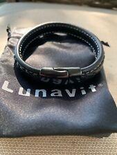 Lunavit Men's Leather Magnetic Zoom Bracelet M