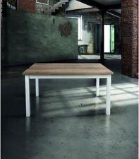 Tavolo Rettangolare Allungabile Bianco e Rovere Primitivo - 110 x 70 e 130 x 80