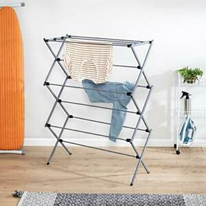 Honey-Can-Do Oversize Collapsible Clothes Drying Rack DRY-09066 Silver