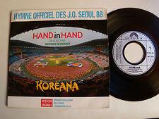 """GIORGIO MORODER : Hand in hand - KOREANA J.O. SEOUL 1988 7"""" 45T POLYDOR 887 730"""