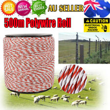 500m/Roll Electric Fence Polywire Energiser Stainless Steel Poly Wire Insulator