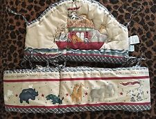 Lamb's & Ivy Country NOAH'S ARK Animal Cracker Bumper Pads~2 pc set~EUC