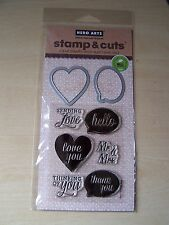 HERO ARTS - STAMP & CUT - CLEAR STAMPS & DIE SET - LOVE YOU/MR&MRS