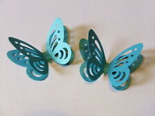 20 3d BUTTERFLY WEDDING TABLE CONFETTI PEARLESCENT DEEP AQUA TURQUOISE TEAL BLUE