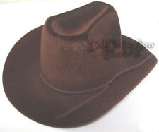 """Brown Cowboy Cowgirl Western Hat Yeehaw  for 18"""" American Girl Doll Clothes"""