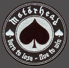 BORN TO LOSE LIVE TO WIN SPADE MOTORHEAD MORALE HOOK  PATCH