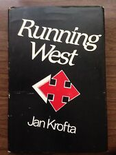 Running West Jan Krofta 1982 First Edition Hardcover with Dust Jacket