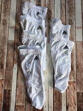 NWT Adidas Football Pants Men's XXS White Polyester Elastic Tie Waist Stock Bx5