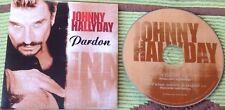 JOHNNY HALLYDAY CD DEUX TITRES  ETAT NEUF . PARDON .