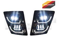 New Volvo VNL True LED Black Fog Light plus LED Trim Set   Pair   (LH+RH)