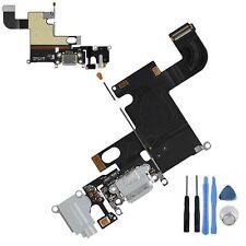 """Iphone 6 (4.7"""") unidad de carga Dock Puerto & micrófono y auriculares Jack Flex Cable Gris"""