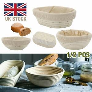 Round Oval Bread Proofing Proving Basket Rattan Banneton Brotform Dough Tool