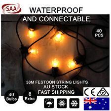 40PCS Waterproof Festoon String Lights Kit Wedding Party Festival Garden Outdoor