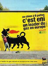 Publicité advertising 2012 Eni Leader gaz naturel
