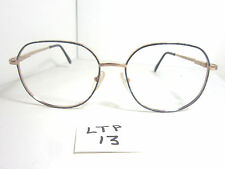Vtg 80s Unmarked Eyeglass Frame Mayara II Blue Gold Mens Womens (LTP-13)
