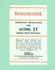 Winchester Model 12 Owners Manual 1975 Reproduction