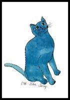 Andy Warhol One Blue Pussy Poster Kunstdruck Bild im Alu Rahmen schwarz 36x28cm