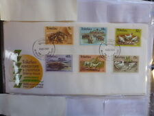 TOKALAU 1986 ANIMALS SET 6 STAMPS FDC FIRST DAY COVER