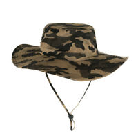 Men Outdoor Boonie Hat Military Safari Wide brim Bucket Hat Fishing Hat Sun Cap